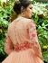 Peach georgette embroidered wedding anarkali z504