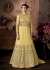 Yellow color net wedding anarkali 101