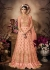 Peach color net wedding anarkali 102