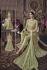 Pista green net wedding anarkali 104