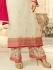 Drashti Dhami white semi stitched embroidered suit 1803