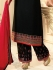 Drashti Dhami black semi stitched embroidered suit 1806