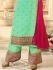 Drashti Dhami turquoise semi stitched embroidered suit 1807