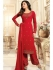 Drashti Dhami red semi stitched embroidered suit 1808
