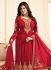 Ayesha takia red georgette straight suit 25101