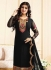Ayesha takia black georgette straight suit 25102
