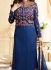 Ayesha takia navy blue georgette straight suit 25107