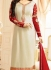 Ayesha Takia Cream Georgette Straight Suit 25108