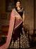 Ravishing velvet lace work a line wedding lehenga choli 5001