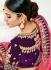 Purple color silk wedding lehenga choli 1306