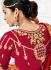 Red silk wedding lehenga choli 1308