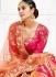 Peach pink silk wedding lehenga choli 1309