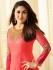 Kareena Kapoor coral pink georgette straight cut salwar kameez