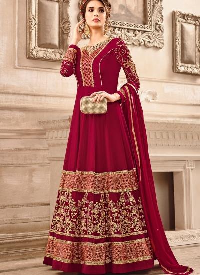 211afbfed5 Buy Red georgette wedding wear salwar kameez in UK, USA and ...