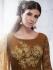 Chocolate brown color handloom silk wedding wear salwar kameez