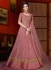Onion pink color net wedding anarkali