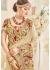 Beige Silk Mirror Worked Wedding Saree 4105