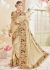 Beige Silk Mirror Worked Wedding Saree 4105