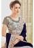 Grey Velvet Net Stone Worked Partywear Saree 4109