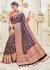 Blue Banarasi Silk Woven Wedding Saree 4112