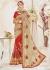 Red Silk Net Embroidered Wedding Saree 4113