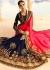 Gajri navy blue half and half wedding saree 8006