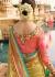 Beige green wedding saree 8010