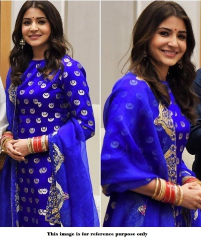 Bollywood Style Anushka Sharma Blue reception anarkali