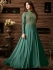 Sonal chauhan turquoise color net anarkali 4806