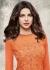 Priyanka chopra peach color net straight cut salwar kameez