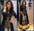 Bollywood Style Shama Sikander Navy blue silk gown