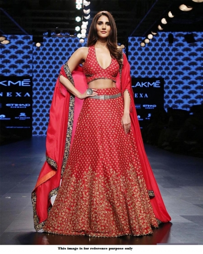 Bollywood Style Red color silk lakme fashion lehenga choli
