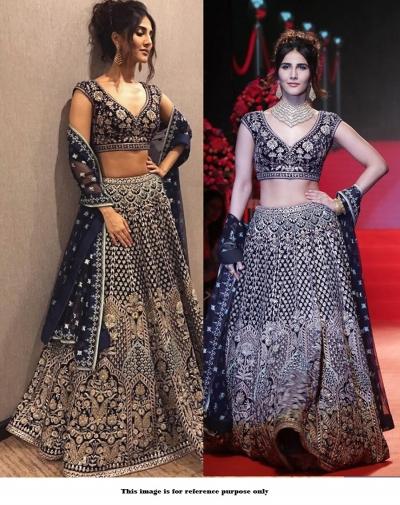 Bollywood Style Black color silk lakme fashion lehenga choli