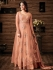 Sonal chauhan Peach color netted wedding anarkali 4807