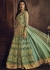 Mint green net wedding wear lehenga kameez