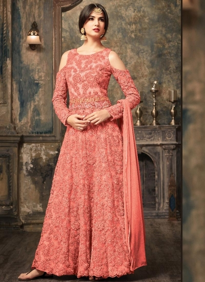 Sonal Chauhan Peach Anarkali Suit 5106A