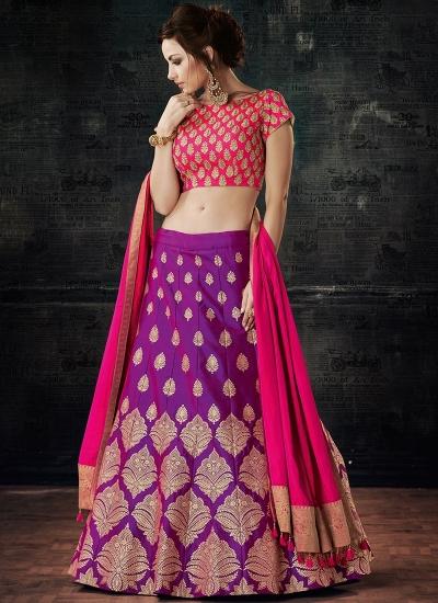 cac4971ba10df Buy Purple dual tone silk wedding lehenga choli in UK, USA and ...