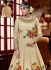 Beige color akira silk wedding anarkali