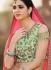Peach and pista green banglori silk wedding lehenga choli