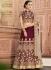Wine color Tora wedding lehenga choli