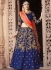 Blue banglori silk wedding lehenga choli
