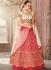 Pink bhagulpuri silk wedding lehenga choli