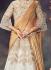 Off white  weaved silk wedding lehenga choli