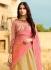 Beige and light pink silk wedding lehenga choli