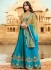Firozi color barfi silk wedding lehenga choli
