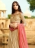 Beige and pink silk wedding lehenga choli