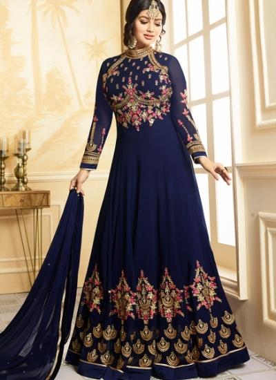 Ayesha Takia Navy blue color georgette party wear salwar kameez