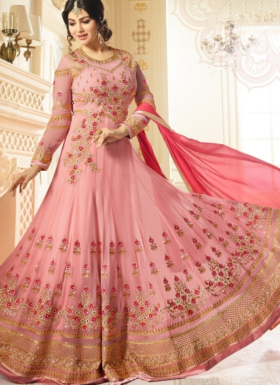 Ayesha Takia Pink color georgette party wear salwar kameez