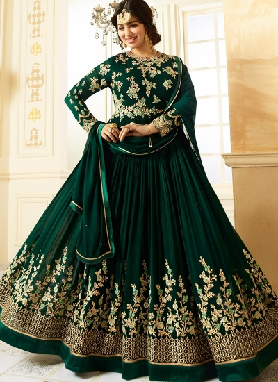 Ayesha Takia Green color georgette party wear salwar kameez