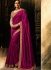 Wine and chiku color silk Party wear saree